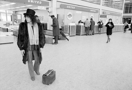 Marc Bolan - JFK Airport, U.S. Tour, Feb 1972