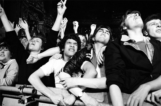 Audience, Eddie & The Hot Rods' gig, April 1978 Venue unknown